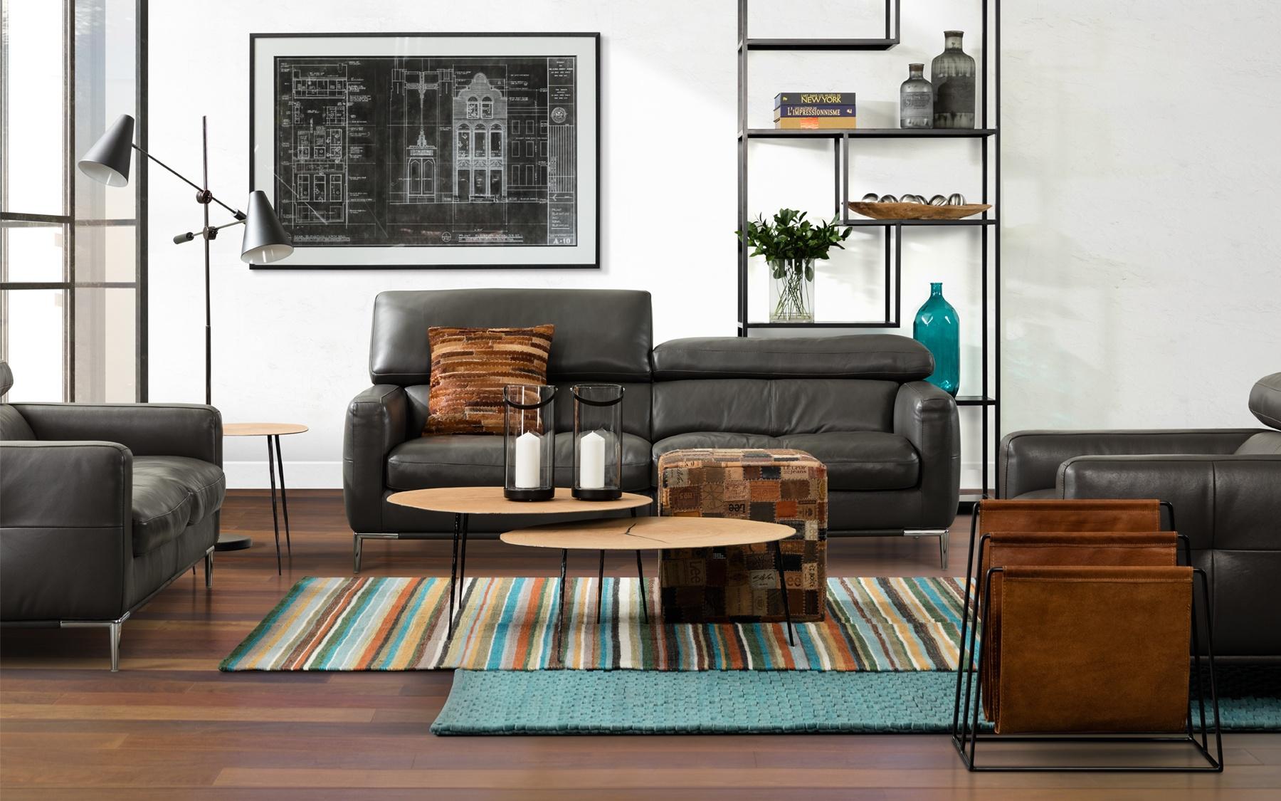 Canap cuir 79 c685 canap s salons la galerie du meuble for Galerie du meuble
